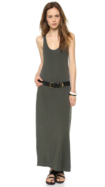 Velvet Goddess Racer Back Maxi Dress