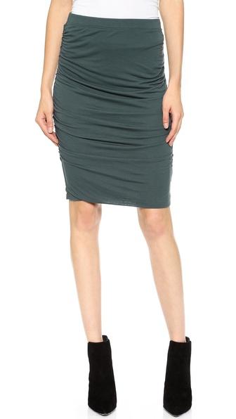 Velvet Drapey Slinky Pencil Skirt