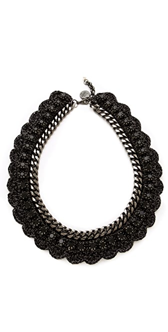 Venessa Arizaga Black Bowie Necklace