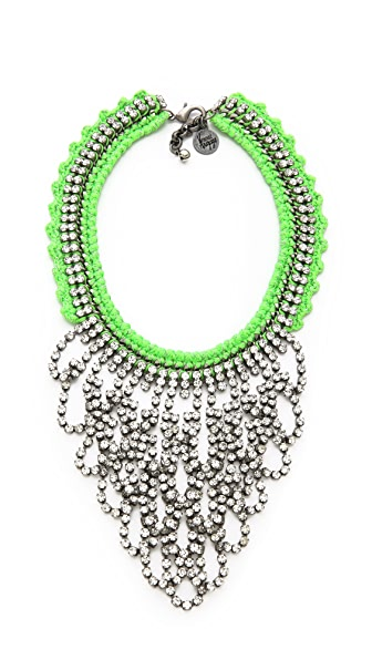 Venessa Arizaga Green Lightning Necklace