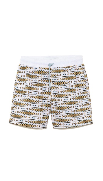 Venroy Cabana Swirl Swim Trunks