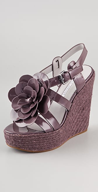Vera Wang Penny Flower Wedge Espadrilles