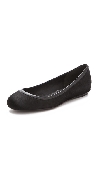 Vera Wang Hillary Haircalf Flats
