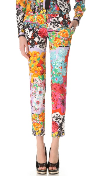 Versace Vintage Floral Skinny Pants