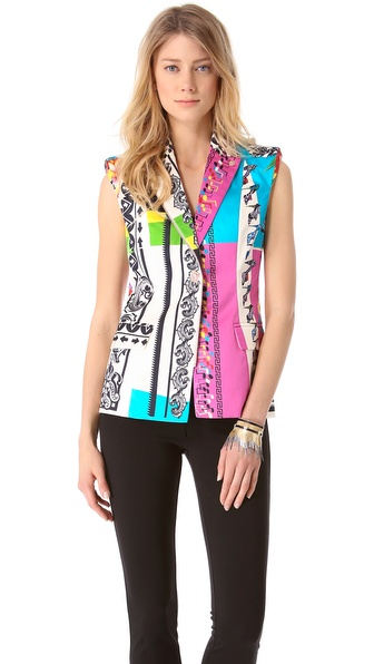 Versace Music Print Vest