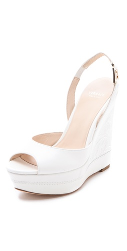 Versace Platform Wedge Sandals at Shopbop.com