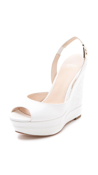 Versace Platform Wedge Sandals