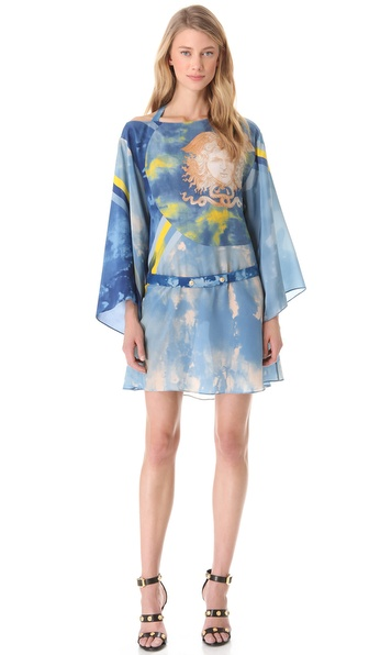Versace Tie Dye Medusa Dress