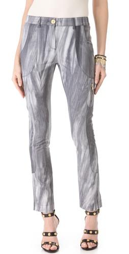 Versace Tie Dye Seamed Pants