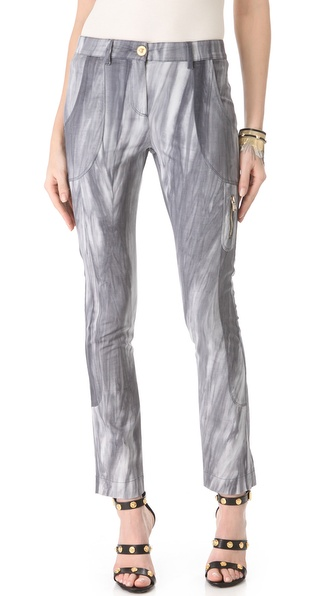 Versace Tie Dye Seamed Pants