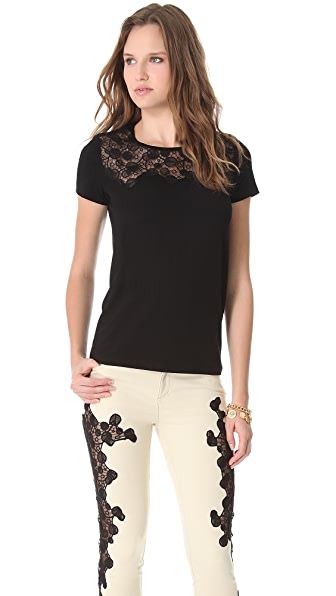 Versace Short Sleeve Cutout Top