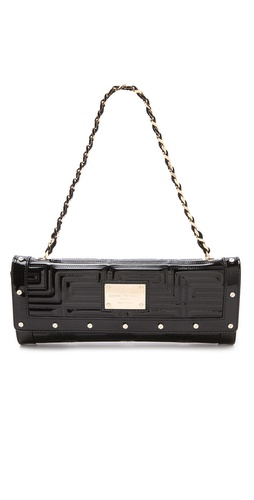 Versace Patent Quilted Shoulder Bag at Shopbop.com