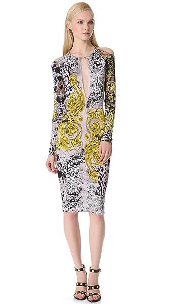 Versace Long Sleeve Key Hole Dress