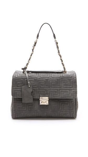Versace Leather Quilted Shoulder Bag