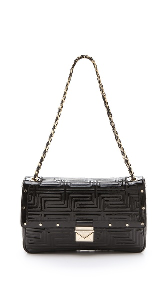 Versace Patent Leather Shoulder Bag