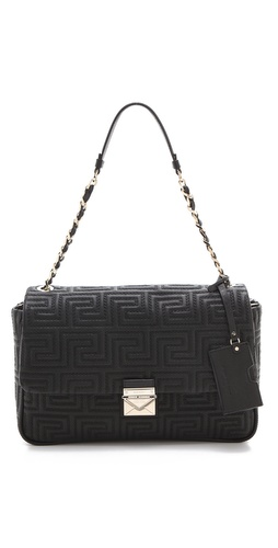 Versace Quilted Leather Shoulder Bag at Shopbop.com