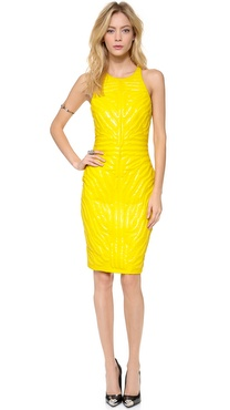 Versace Sleeveless Dress with Tiger Stripes