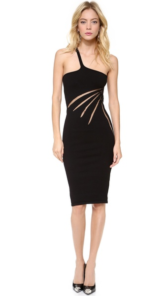 Versace Asymmetrical Side Slash Dress