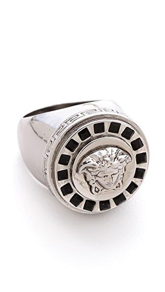 Versace Medusa Ring with Stones