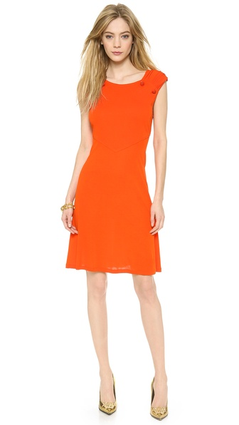 Versace Sleeveless Dress - Scarlet