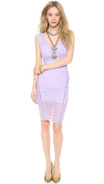 Versace Criss Cross Medusa Dress - Lilac