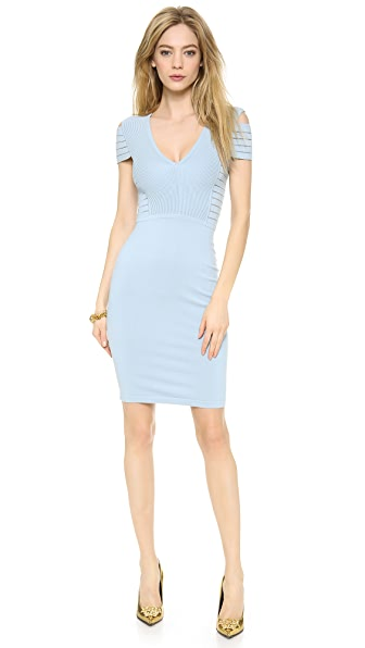Versace Banded Shoulder Knit Dress