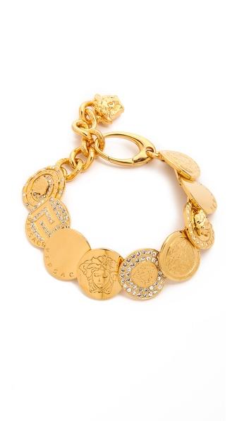 Versace Coin Bracelet - Crystal/Gold