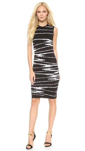 Kupi Versace haljinu online i raspordaja za kupiti Flocked, puckered stripes lend a tactile, painted look to this striking double knit Versace sheath dress. Sleeveless. Unlined. Fabric: Flocked double knit. 54% wool/30% viscose/16% polyester. Hand wash or dry clean. Made in Italy. Measurements Length: 37in / 94cm, from shoulder Measurements from size 40. Available sizes: 40,42,44