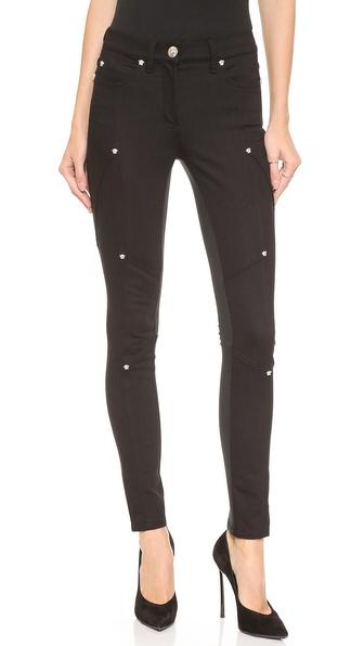 Versace Embellished Skinny Pants