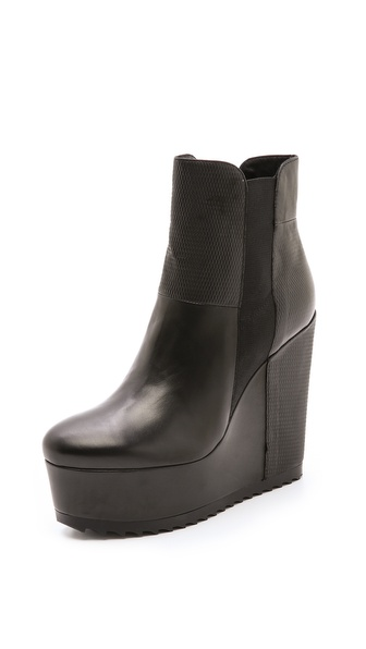 Vic Italy Platform Wedge Booties