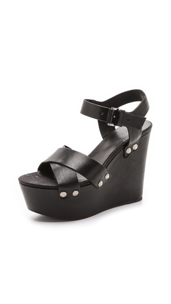 Vic Italy Platform Sandals - Black at Shopbop / East Dane