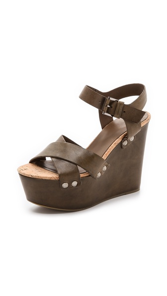 Vic Italy Platform Sandals - Olive at Shopbop / East Dane