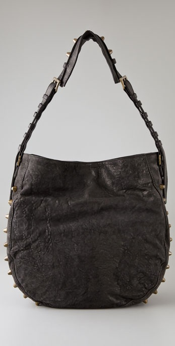 Pour La Victoire Edge Tattered Leather Hobo
