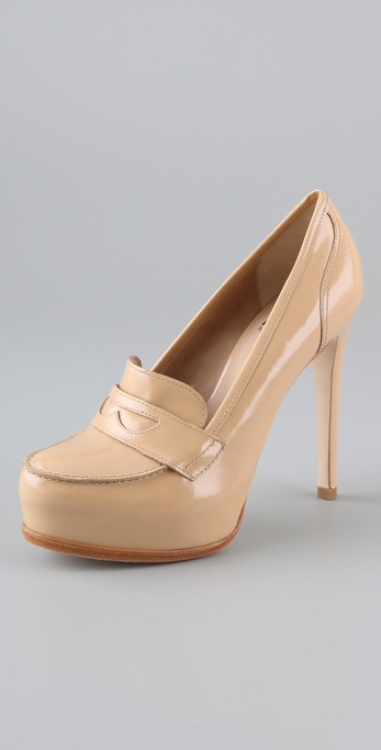 Pour La Victoire Larkin Penny Loafer Pumps from shopbop.com