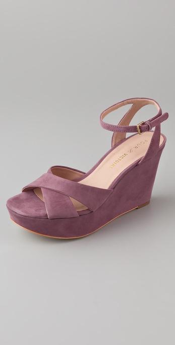 Pour La Victoire Lulie Suede Wedge Sandals