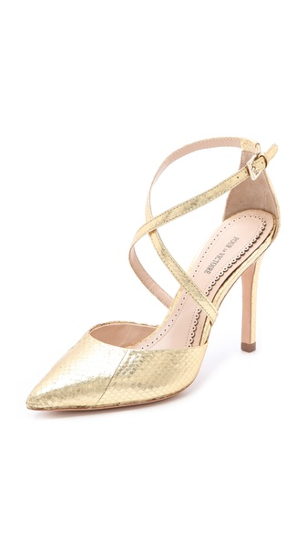 Pour La Victoire Cheyenne Metallic Pumps