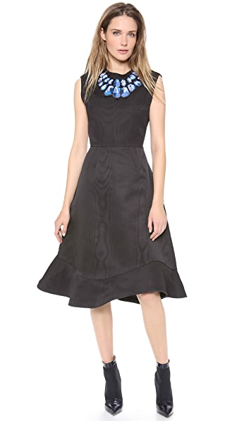 Vika Gazinskaya Bell Shaped Dress with Uneven Hem