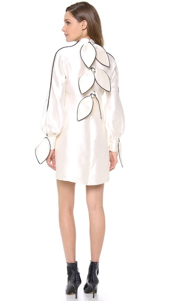 Vika Gazinskaya Long Sleeve Bow Dress