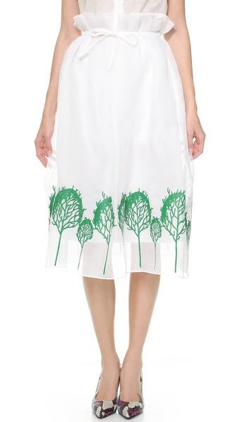 Vika Gazinskaya Full Skirt with Tree Pattern