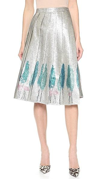 Vika Gazinskaya Pleated Wrap Skirt