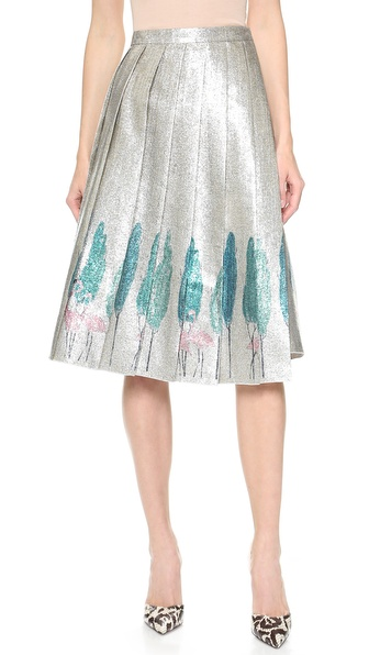 Vika Gazinskaya Pleated Wrap Skirt