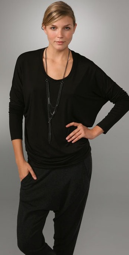 Vince Long Sleeve Scoop Top