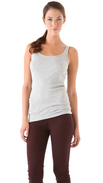 Vince Favorite Tank - Heather Grey at Shopbop / East Dane