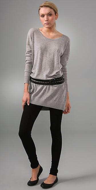 Vince Cashmere T-Shirt Sweater Dress