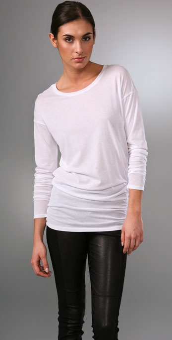 Vince Asymmetrical Long Sleeve Tee