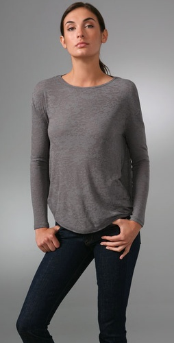 Vince Long Sleeve Burnout Circle Top