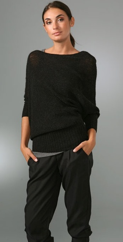 Vince Loose Knit Asymmetrical Sweater