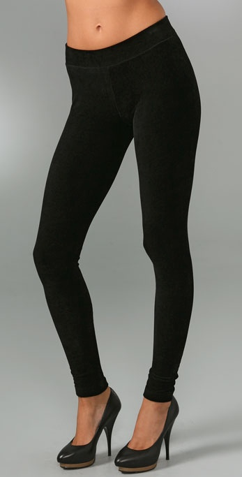 Vince Ribbed Corded Ankle Leggings