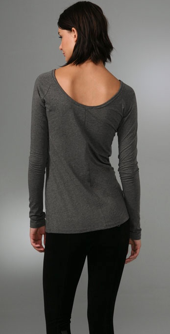 Vince Low Back Boatneck Tee