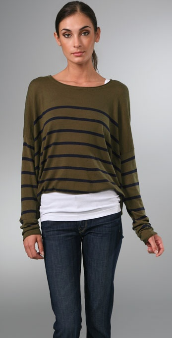 Vince Striped Square Sweater